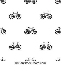 Sport bike racing on the track. Speed bike with reinforced wheels.Different Bicycle single icon in black style vector symbol stock illustration.