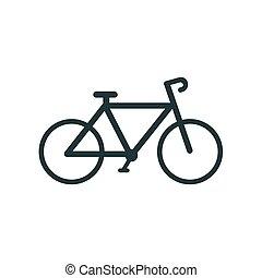 sport., bike., vector., ícone