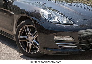 Sport black car