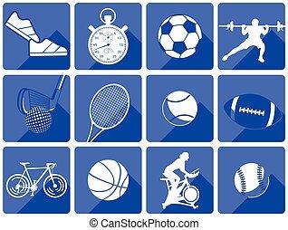 sport, blau