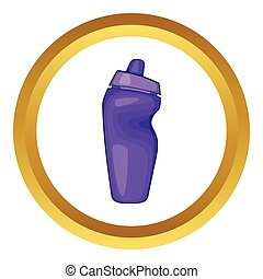 Sport bottle vector icon