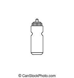 Sport bottle water line icon, hydro flask