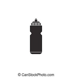 Sport bottle water solid icon, hydro flask