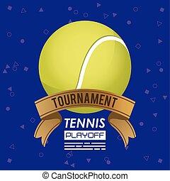 sport, boule tennis, affiche