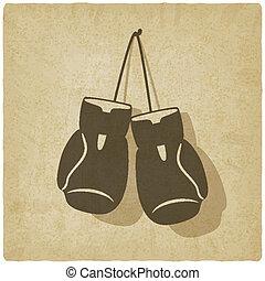 sport boxing old background - vector illustration