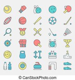 Sport bright icons