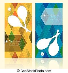 Sport brochure template cards. Tennis background.