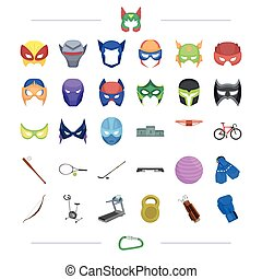 sport, business, health and other web icon in cartoon style., games, cinematography, cartoons icons in set collection.