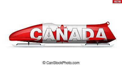 sport, canadien, bob, bobsleigh