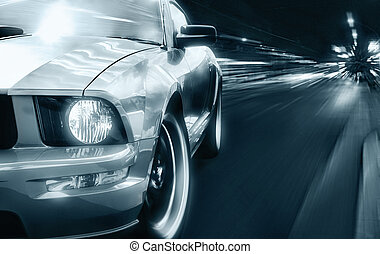 Sport car black and white picture