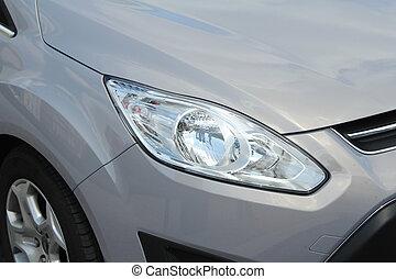 sport car close up shot