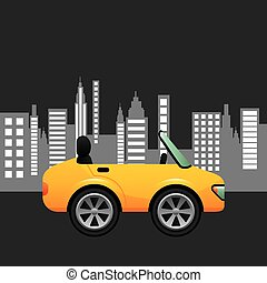 sport car coupe city background design