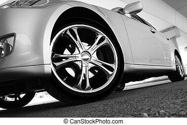 Sport car - Detail of a beauty and fast sport car