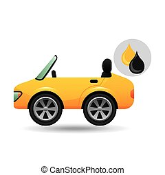 sport car drop oil gasoline