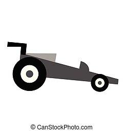 Sport car flat illustration on white