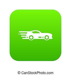 Sport car icon green