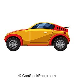 Sport car icon, isometric 3d style