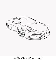 Sport car icon line element. Vector illustration of sport car icon line isolated on clean background for your web mobile app logo design.