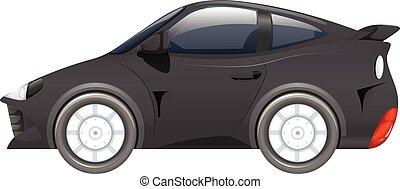 Sport car in black color