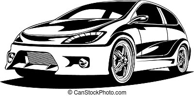 sport car isolated on the white background