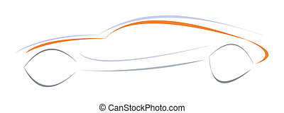 Sport car - Modern sports car. Can be used as logotype...