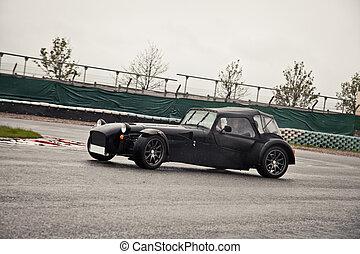 Sport car on track