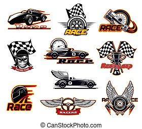 Sport car races, street racing motor team club