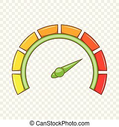 Sport car speedometer icon, cartoon style