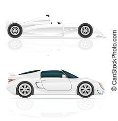 sport car vector illustration