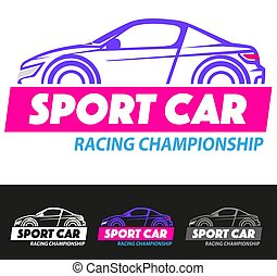 Sport car - Vector illustration, sport car racing...