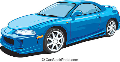 Sport car - Vector isolated sports car on white background...