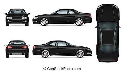 Sport car vector template