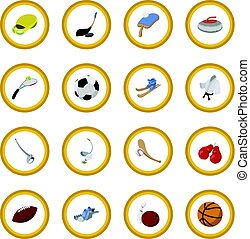 Sport cartoon icon circle