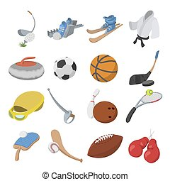 Sport cartoon icons