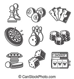 sport, casinò, giochi, ozio, icona