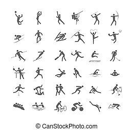 sport, cielna, komplet, igrzyska