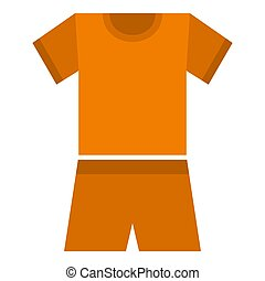 Sport clothes icon, flat style
