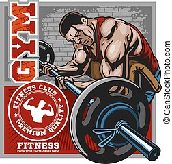 Sport club. Bodybuilding logos emblems design element. Sports icons and elements.