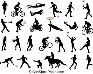 sport collection - sport silhouettes collection - vector