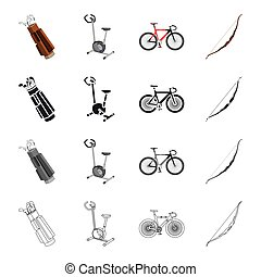 Sport, competitions, hobby and other web icon in cartoon style.Training, attributes, equipment, icons in set collection.