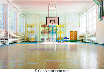 Sport complex in Russian school - Empty sport complex in ...