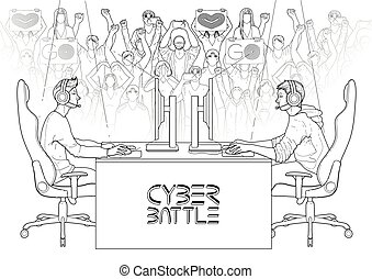 sport, conception, cyber