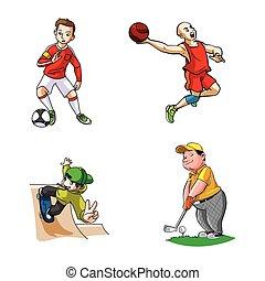 sport, conception, illustration
