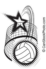 sport, conception, volley-ball, élément