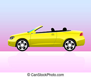 Sport convertible car icon - Sport convertible car with...