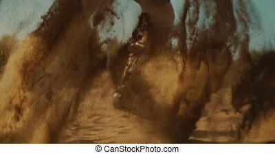 sport, course, extrême, sandboarders, professionnel, désert