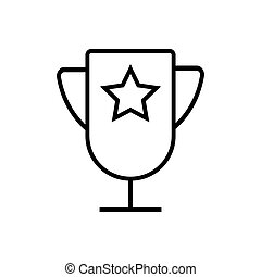 Sport cup outline icon isolated. Symbol, logo illustration for mobile concept and web design.
