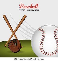Sport design, vector illustration. - Sport design over white...