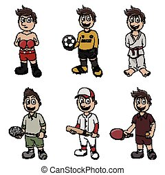 sport, disegno, illustrazione