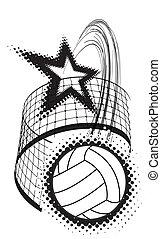 sport, disegno, pallavolo, elemento